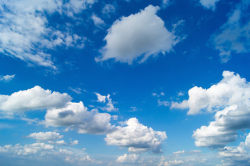 Blue sky with white clouds,Clear sky.