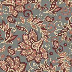 seamless floral vintage background. Vector pattern