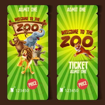 zoo ticket admit one
