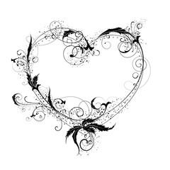 Flowers heart ornamental