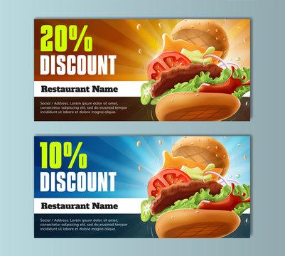 Burger Discount Voucher Template