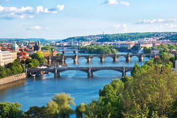 Prague Bridges in the Summer. Czech Republic.