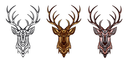 stylized deer head
