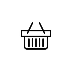 market store basket line black icon