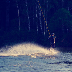 man to ride a wakeboard