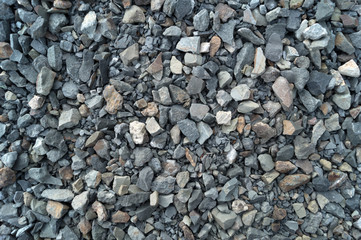 Crushed stones, background, texture