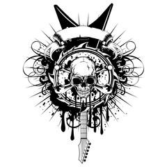 guitar skull_var 7