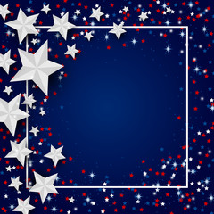 Vector USA background of star for 4 july independence day or other celebration