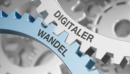 Digitaler Wandel  / Zahnrad