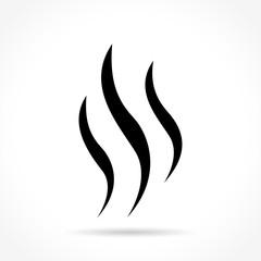 Fototapeta steam icon on white background