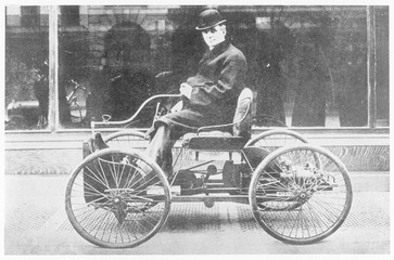 Ford's First Model - 1892. Date: 1892