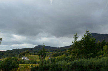 Dark Skies over the Cairngorms Mountain Range in Scotland