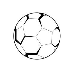 3D emblem of football (soccer) ball.