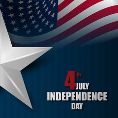 Independence day poster and banner design.Happy freedom day for american.Vector illustration eps10.