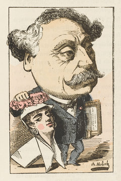 Dumas Fils - Trombinoscope. Date: 1824 - 1895