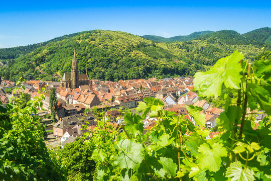 View of Thann, France