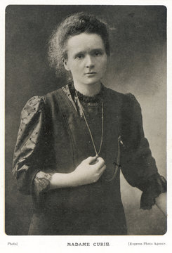 Marie Curie - Photograph. Date: 1867-1934