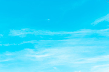 Blue backdrop in the air