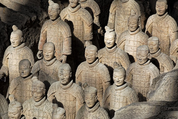 Wall Murals Xian World famous Terracotta Army located in Xian China