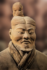 Terracotta Army exhibit at the Shaanxi History Museum. Xian. China
