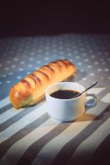 Canvas Prints Coffee beans pain et tasse à café