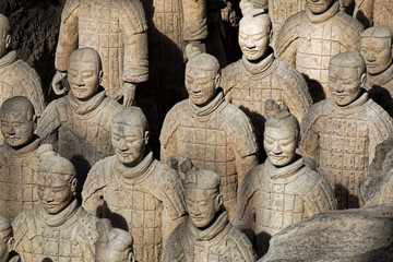 Spoed Foto op Canvas Xian World famous Terracotta Army located in Xian China