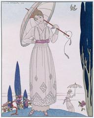 Summer Frock - Doeuillet. Date: 1914