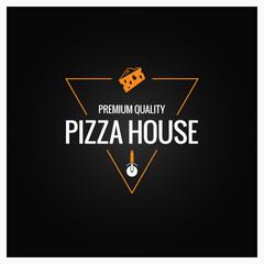 pizza logo design background