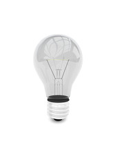 render illustration of light bulb isolated
