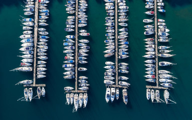Aerial view of the Marina in Croatia