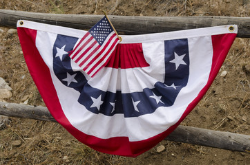 American Flag and Banner at Rodeo Corral