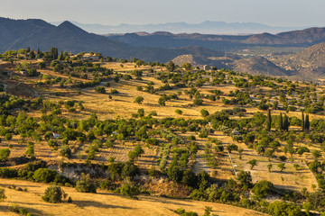 A view of the hills in the Lefkara area. Cyprus