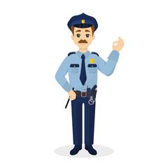 Isolated ok policeman.