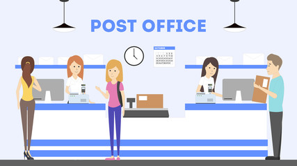 Post office interior.