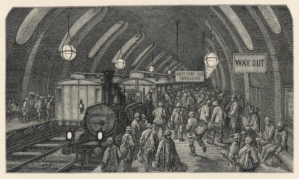Workmens Train Baker St. Date: 1870