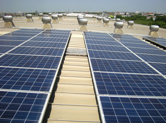 Solar PV Rooftop Roof Ventilation Fans Background