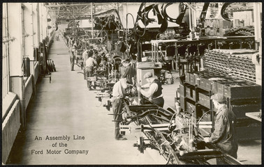 Ford Assembly Line. Date: circa 1930