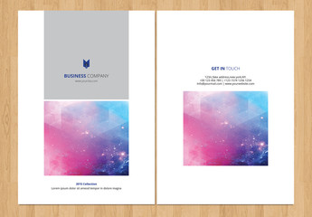Brochure Layout with Gray Elements 1