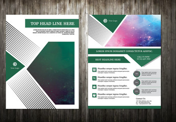 Brochure Layout with Green Elements 4