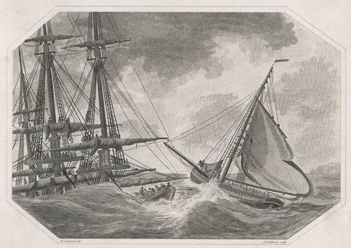 Wreck of 'Abergavenny'. Date: 5 February 1805