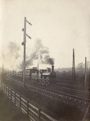 Train at Speed Photo. Date: early 20th century