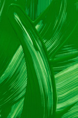Painted background. Abstract green liquid pattern.