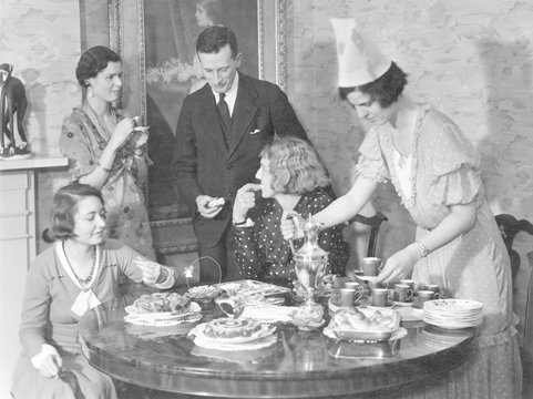 Coffee - Cakes Party. Date: 1930