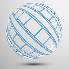 film, movie, photo, filmstrip set of film frame, vector illustration