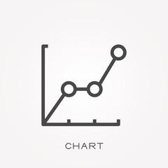 Line icon chart