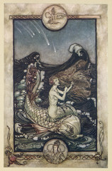 Mermaid (Rackham). Date: 1908