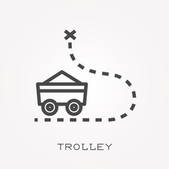 Line icon trolley