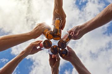 Foto auf Leinwand Bier / Apfelwein Feierlaune