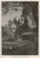 Sir Isaac Newton  English mathematician. Date: circa 1665