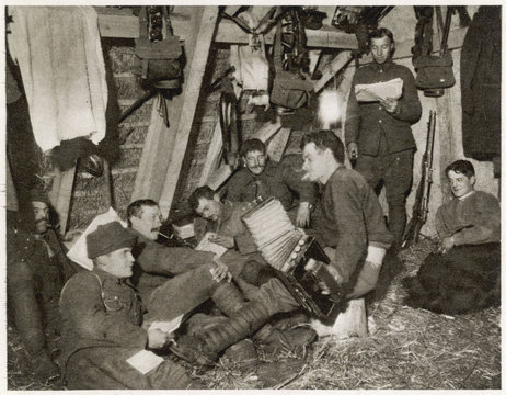 Trench Entertainment. Date: 1915